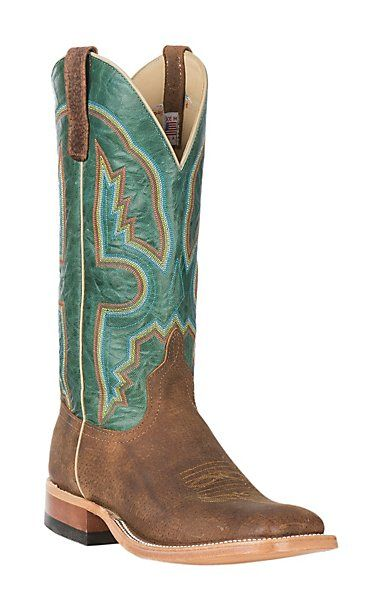 Anderson Bean Men's Cavender's Exclusive Tag Boar with Turquoise Explosion Wide Western Square Toe Boots   Cavender's