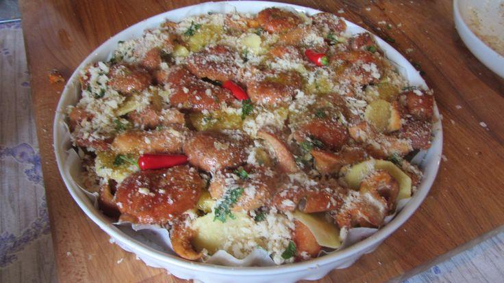 Teglia di funghi Rositi e patate Silane  al forno