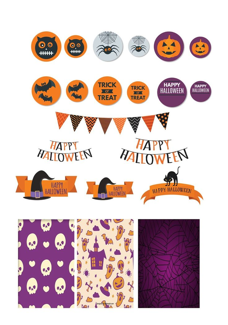 paper and needle free halloween stickers for planner and scrapbooking - Happy Halloween Stickers