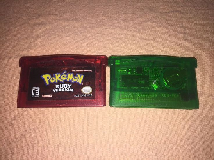 Pokemon RUBY And Pokémon EMERALD GameBoy Advance SP GBA Authentic Tested