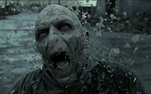When Voldemort died and you felt a weight lifted off your heart.