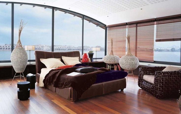 Wärme und Gemütlichkeit in einem modernen inspirierende Schlafzimmer Interior Design von Roche Bobois Schlafzimmer Interior Design für moderne Masions (4)