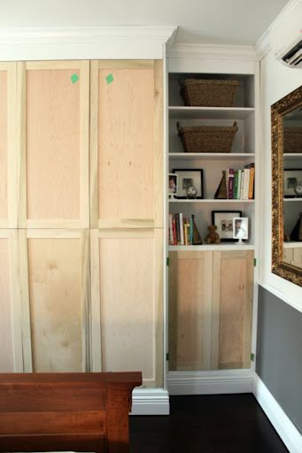 Custom built-In IKEA PAX - IKEA Hackers - have custom wood doors made for your pax units.