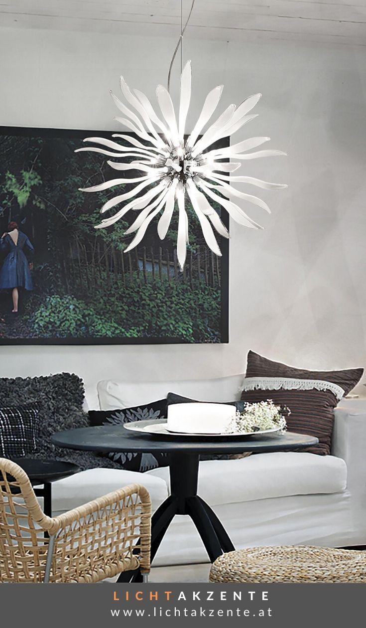 Ideal Lux Glas Pendelleuchte Corallo weiß in 2020 ...