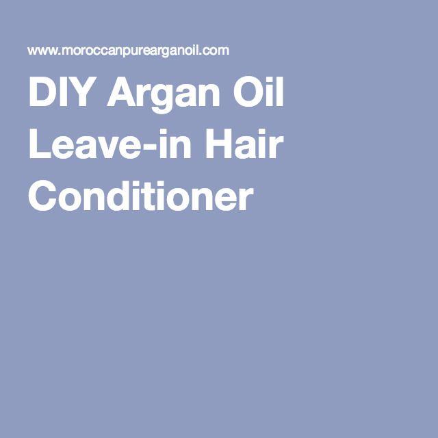 DIY Argan Oil Leave-in Hair Conditioner