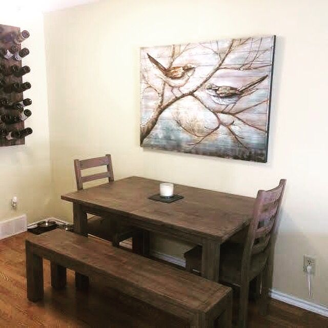 Thank you to our new Calgary customers Casey & Matt who just sent us this photo of their new dining set and art they purchased while on vacation here. We are so happy that we have the ability to ship many of our products as it gives us the chance to work with people like this adorable couple.
