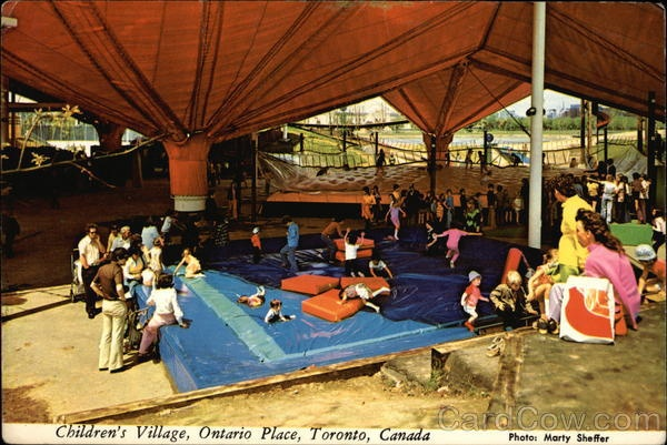Children's Village postcard (I want to marry that Loblaws bag)