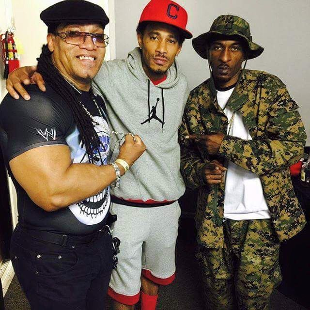 Rapper's Grandmaster Melle Mel, Lazyie Bone and Rakim at The Art Of Rap concert Irvine, CA July 18, 2015