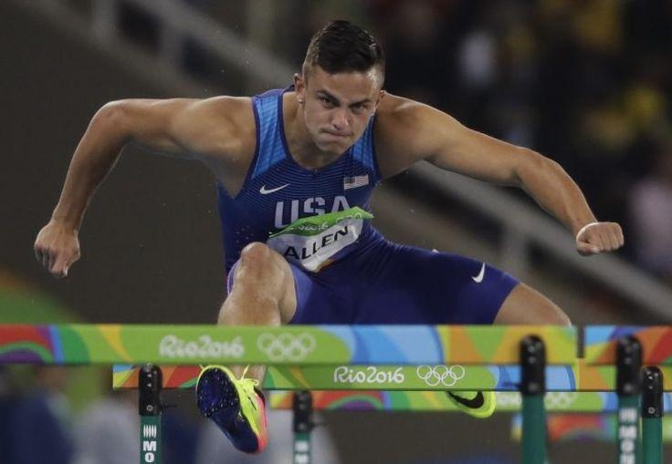 olympic hurdles | How Olympic hurdler Devon Allen juggles college football ...
