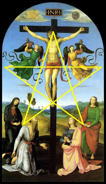 Sacred geometry: the pentagram in Raphael's CrucifixionThe National, Raffaello Sanzio, Religious Art, Italian Renaissance, Jesus, Raphael, Monde Crucifixion, Painting, National Gallery