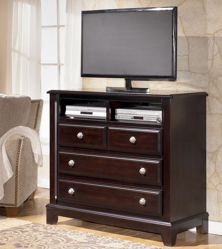 Ridgley Media Chest Of Drawers By Signature Design By Ashley Furniture.  Brown FinishMedia CenterBedroom ...