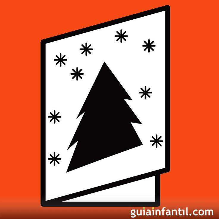 Felicitaciones de Navidad con dibujos para que los niños puedan pintar. Postales de Navidad con dibujos para que los niños puedan hacer sus felicitaciones navideñas personalizadas y llenas de colores. Postales navideñas para que los niños puedan imprimir, recortar y colorear para felicitar las fiestas de Navidad.