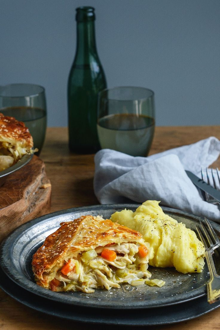 From The Kitchen: Mega-Comfort Chicken & Leek Pie with Paris Mash