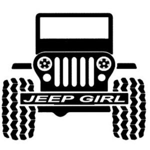 Jeep Wrangler Girl Decal Vinyl