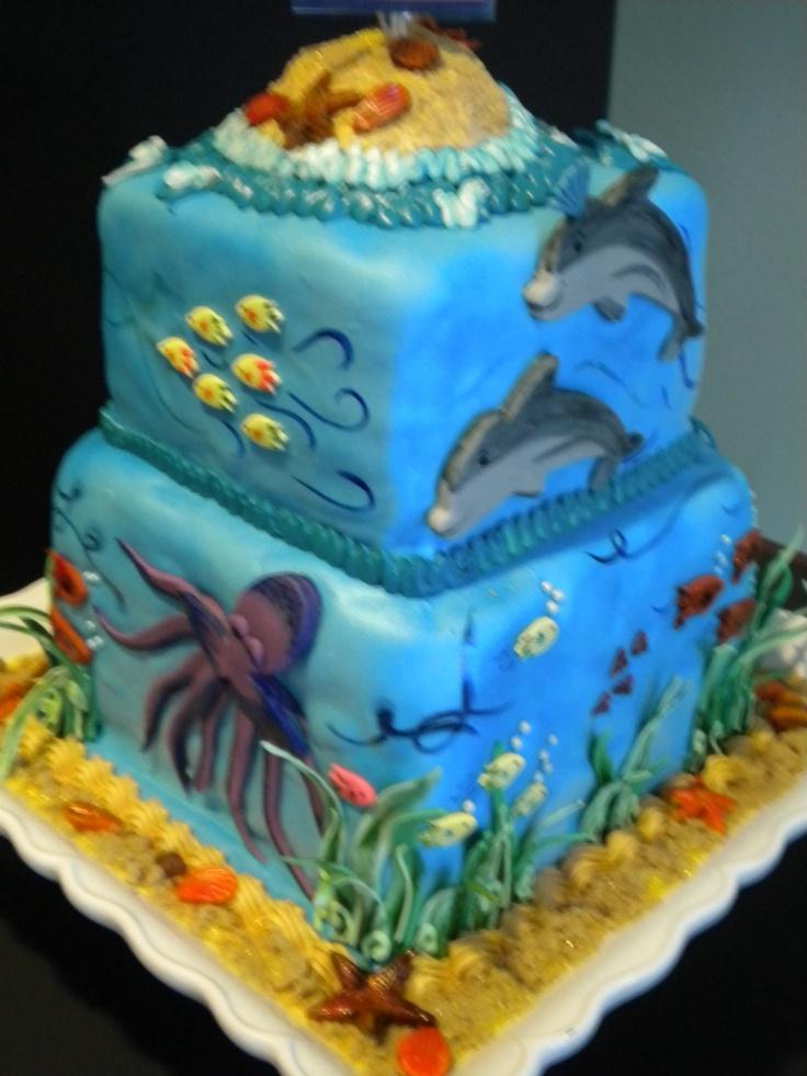 Happy graduationmarine biology cake im over here