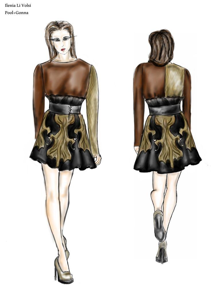 Progettazione  FigurinoIniziale (moda donna)