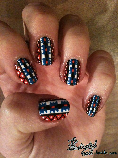 27 best nail art images on pinterest tumblr posts and nail nail ciaras s tribalillustrated nail prinsesfo Image collections
