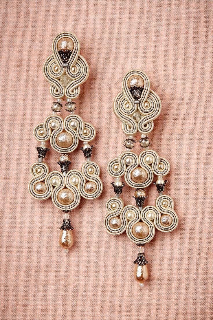 Серьги-люстры - украшение невесты