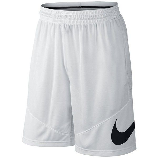 Big & Tall Nike Dri-FIT Basketball Shorts ($30) ❤ liked on Polyvore featuring men's fashion, men's clothing, men's activewear, men's activewear shorts, white, mens activewear shorts and mens activewear