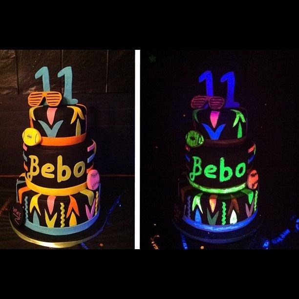 Best Birthday Cakes Images On Pinterest Birthday Cakes - Neon birthday party cakes