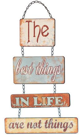 The Best Things In Life Wall Decor