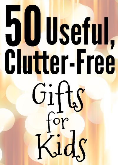 If you're overwhelmed by the idea of MORE STUFF coming into your house this Christmas, this is a great list for you!  Clutter-free, useful gifts!!  Share it with grandparents, aunts, uncles, friends...and keep your home from getting overstuffed!    candleinthenight.com