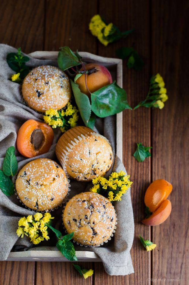 muffins all'albicocca e cioccolato