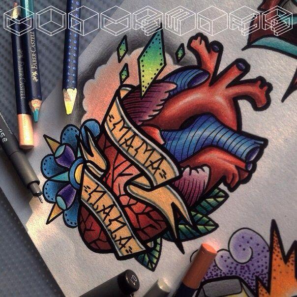 , фото из инстаграм, #тату #татуировки #татувмоскве #наколки #семья