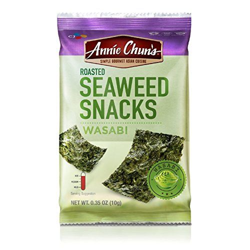 Annie Chuns Roasted Seaweed Snacks Wasabi 035 Ounce Pack of 12 ** Check this awesome product by going to the link at the image-affiliate link. #JapaneseSnacks