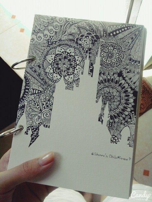Castle#flower#doodle#