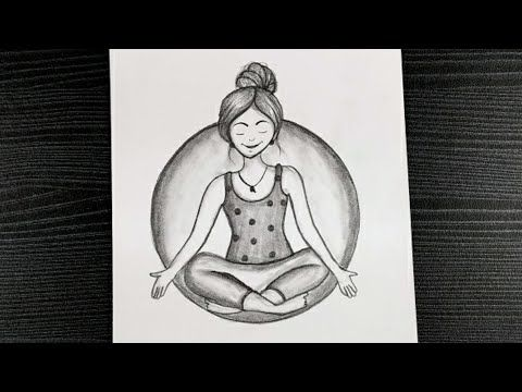 drawing yoga easy pencil special draw drawings international