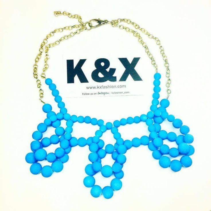 Bubble blue  112 USD Made in Ukraine. Ready to order! #onlinestore #kxfashion #statementnecklace #ukraine #odessa #rainbow  #blue #necklace #fashion #Jewelry #glam #fashion #handmade
