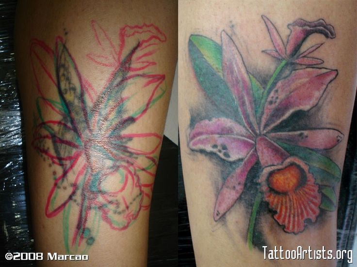 Cataleya Flower Tattoo Design