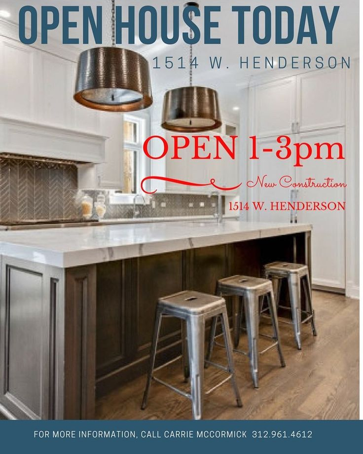 First open house today from 1 to 3 PM. Come visit this amazing new construction home at 1514 W. Henderson. #openhousesunday #openhouses #chicagohomes #chicagorealestate #chicagorealtor #carriemccormick