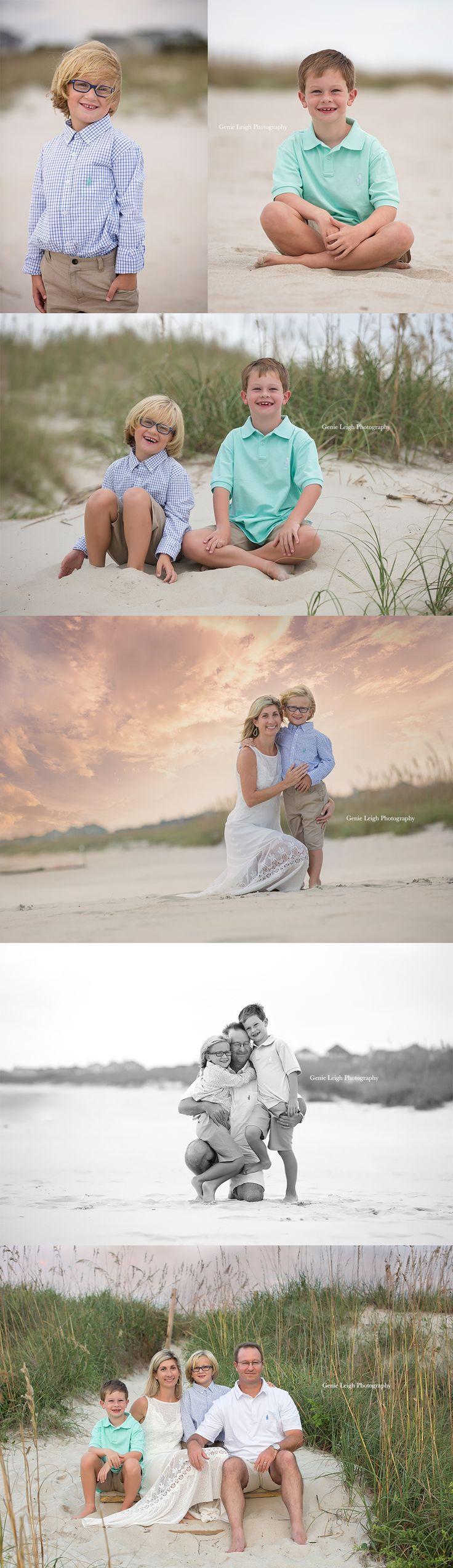 Bald Head Island, NC, Family, Photoshoot, Sunset, North Carolina, Genie Leigh Photography,