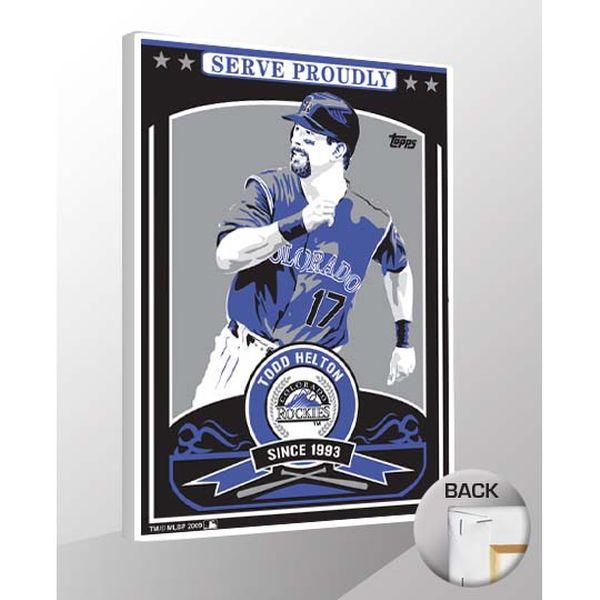 """Todd Helton Colorado Rockies 26"""" x 19"""" Sports Propaganda Player Canvas Print - $79.99"""