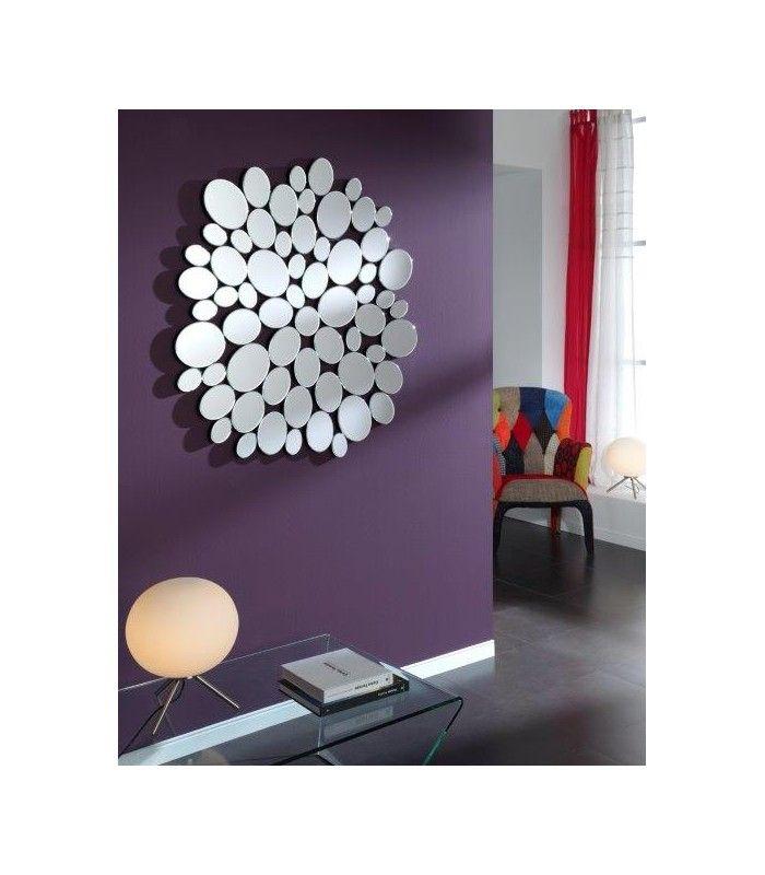 espejos de forma ovalada formada por pequeos espejos de forma circular diseo moderno ideal