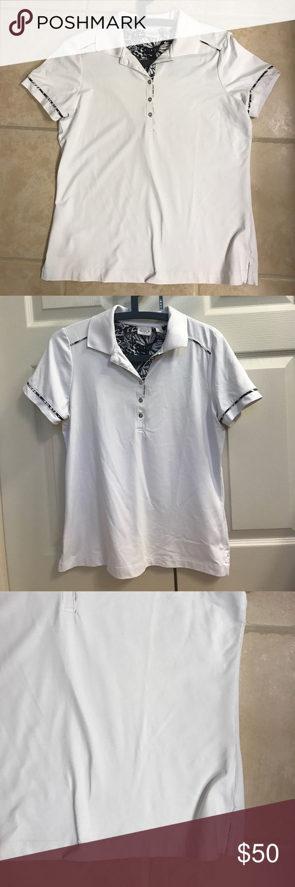 Size 1 (M/8) Chico's white zenergy golf polo shirt Size 1 (M/8) Chico's white zenergy golf polo shirt Chico's Tops