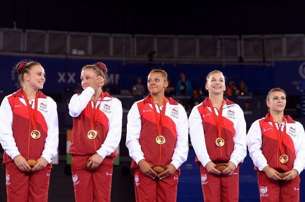 Rebecca DOWNIE, Claudia FRAGAPANE, Ruby HARROLD, Hannah WHELAN and Kelly SIMM [Gold], [Women's artistic gymnastics team event] England
