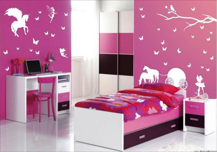 Dekorasi Kamar Tidur Anak Perempuan - Merah Muda