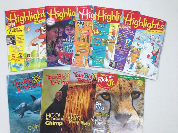 highlights ranger rick your big backyard lot magazine issues lot of 9