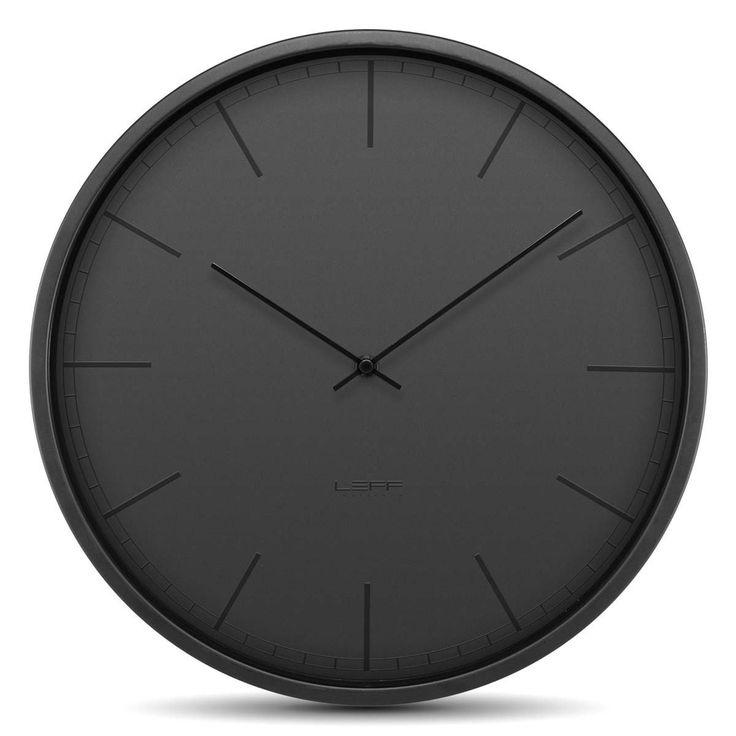 LEFF Amsterdam Tone 35 Wall Clock Black Front LT16003