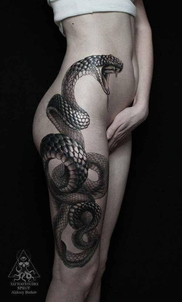 Außergewöhnliche Schlangen-Tattoos
