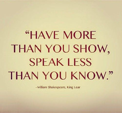 Shakespeare Quote from King Lear   Content in a Cottage