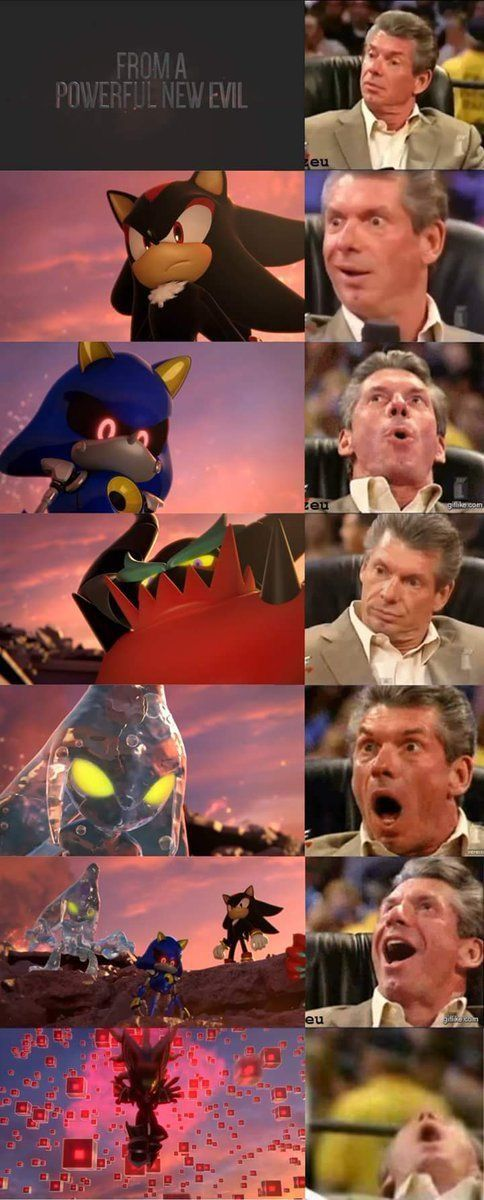 HONESTLY MY FACE WAS THE LAST ONE WHEN I SAW METAL SONIC, MY FAVORITE ;-;