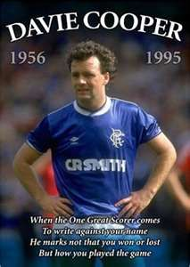 davie cooper - rangers legend