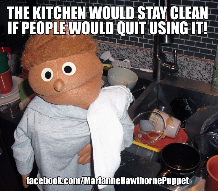 The Kitchen Would Stay Clean If People Would Quit Using It Kitchen Meme Funny Https Www Facebook Com Mariannehawthor Cool House Designs Clean Memes Cleaning