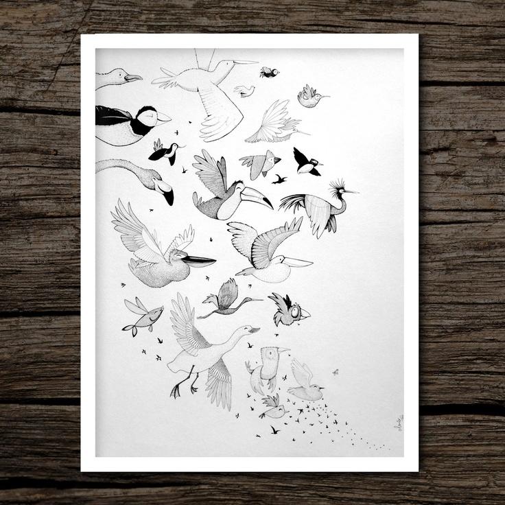 100 Happy Birds - by Oliver Whyte #WhyteBox