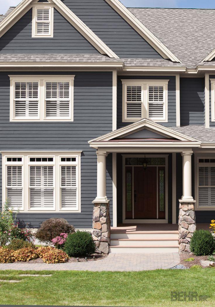 Best 25+ Behr Exterior Paint Colors Ideas On Pinterest Farmhouse   Grey Exterior  House Colors