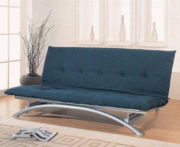 Coaster Furniture - Silver Contemporary Futon Frame - 300008